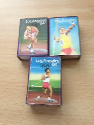 3 x 1984 Los Angeles Vintage Rare Matchboxes - See Pictures