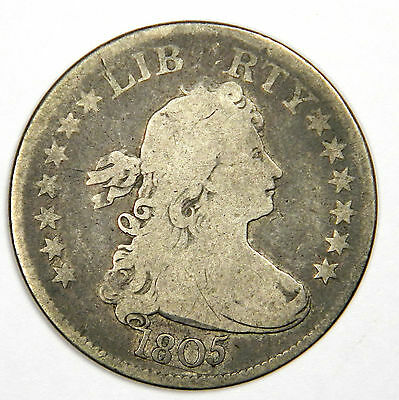 1805 Draped Bust Quarter - Nice And Original Vg - Very Bold And Priced Right!