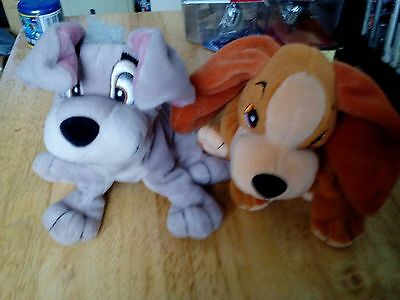 Disney Lady & The Tramp Plush Lady And Tramp Beanies