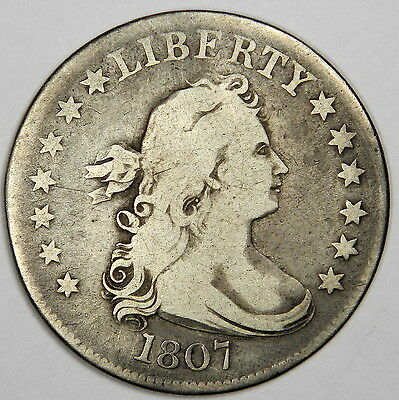 1807 Draped Bust Quarter - Nice Fine - Very Bold And Priced Right!