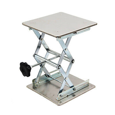 "HFS Plate 8x8""; Overall Height 10""; Lab Jack Scissor Stand Platform 15kg/33lbs"
