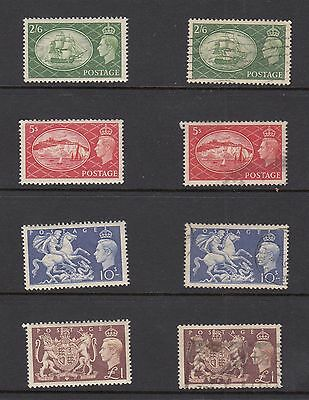 Gb Dunplicate Sets Mint And Used George Vi Defintives 286-9