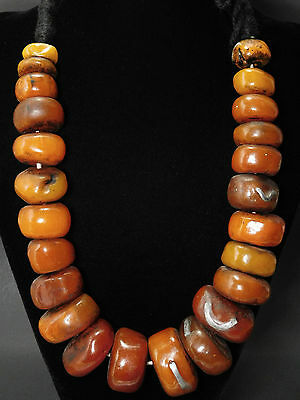 African BERBER ETHNIC JEWELRY RESIN BEADS NECKLACE FROM MOROCCO