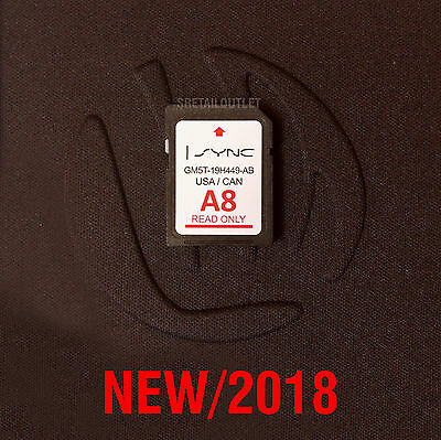 Newest A8 Ford Lincoln Us Canada Sync Navigation Sd Card 2018 Map Update