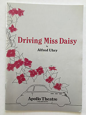 Driving Miss Daisy -1988 London Playbill - Wendy Hiller, Barry Foster, C. Peters