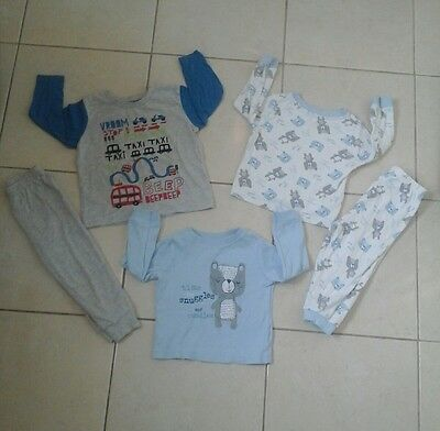 baby boys pyjamas 12-18 months nightwear mix match george bundle