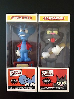 Itchy & Scratchy The Simpsons Bobble Head Series 2 Rare Figures MIB