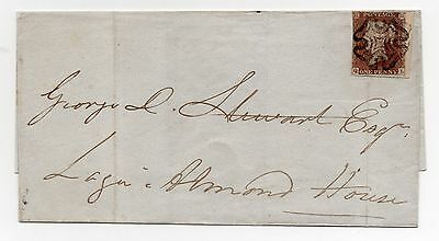 1842 Maltese Cross 1d Red Imperf Cover To Logie Almond House Perth-Boxed Perth