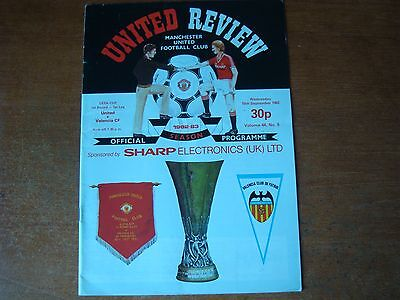 Manchester United V Valencia Sep 1982