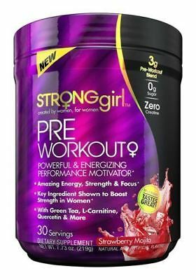 Strong Girl Pre-Workout Energy Strawberry Mojtio 30 Servings