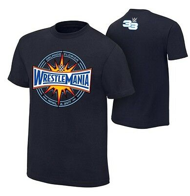 WWE WrestleMania 33 Logo T-Shirt Authentic Official Mens Medium Wrestling