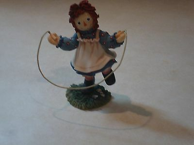 """Raggedy Ann & Andy by Enesco/""""Hop Over Trouble With A Happy Heart Inside"""""""