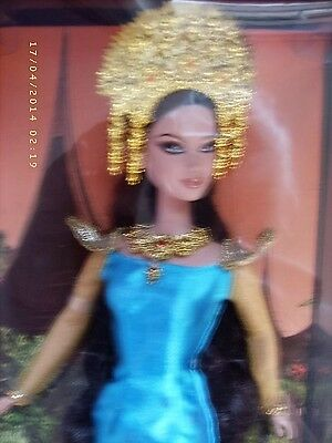 "Boxed 2007 Barbie Collector Pink Label ""dolls Of The World"" Sumatra"