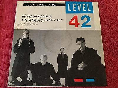"""LEVEL 42 - Lessons In Love / Something About You - 12"""" Single VG/VG"""
