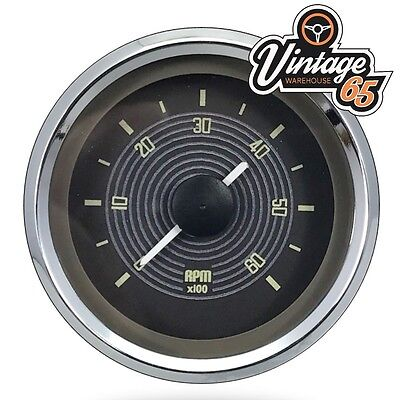 VW Splitscreen Camper T2 OE Style Rev Counter Tacho Gauge Smiths 52mm Vw Brown