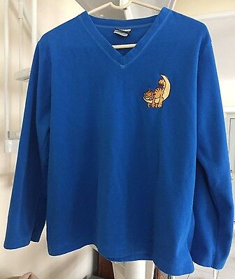Garfield on Crescent Moon Long Sleeve Shirt Pajama Top Size Large Lightly Worn