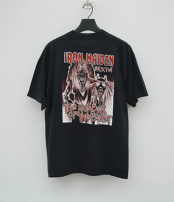 "IRON MAIDEN - ""The Number of the Beast tour"" Brixton T-Shirt -tour concert band"