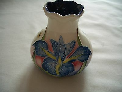 old tupton ware tube lined vase