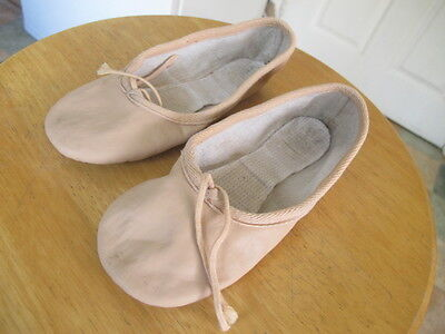 Girl Pink starlite Leather ballet shoes size 12