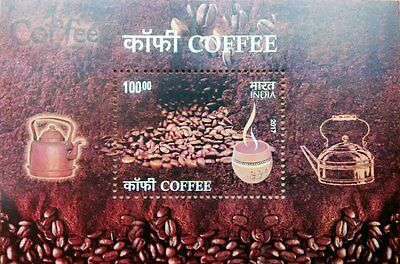 INDIA Coffee Fragrance Aroma Scented Souvenir Sheet MNH New 2017