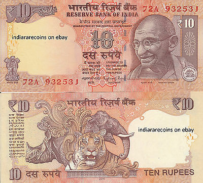 INDIA 10 RS V Inset 2016 Currency Bank Note Raghuram Rajan Paper Money UNC NEW