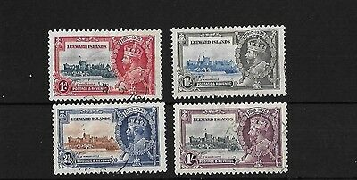 Leeward Islands Sg88/91, 1935 Jubilee Set Used, Cat £48