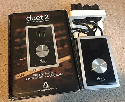 Apogee Duet 2 - 24bit 2 In 4 Out USB Audio Interface for Mac With Breakout Board