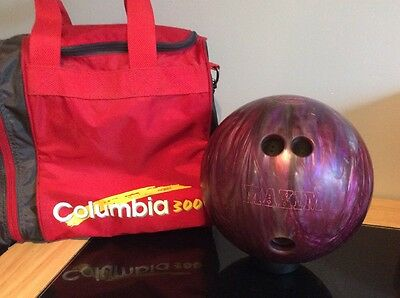 Ebonite Maxim Bowling Ball, With Columbia 300 Carry Bag
