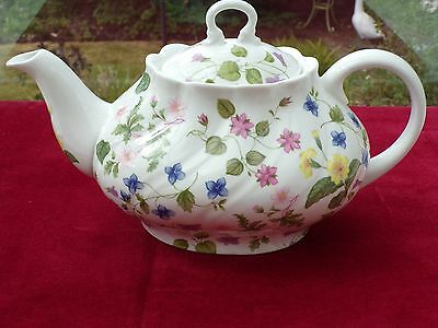 Queens Pottery country meadow teapot