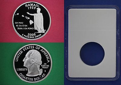 2008 S Proof Hawaii State Quarter With DIY Slab Clad Dp Cameo Flat Rate Shipping