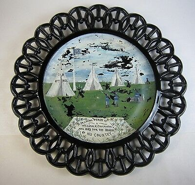 1900 Memorial Plate 2nd Mass Infantry Co M Soldier Spanish American War Adams MA
