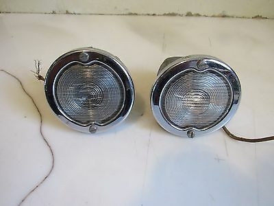 Vintage Pair of 1950-1952 Buick Car GUIDE Front Parking Lights