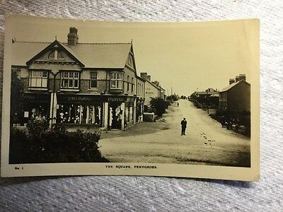 Old Postcard - Real Photographic, The Square, Penygroes, Carmarthenshire