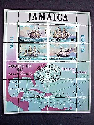 Jamaica 1974 Mail Packet Boats Min/sheet Mnh Sgms384