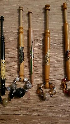 6 lace bobbins spangled  1 not cats bird and dragon fly please read listing