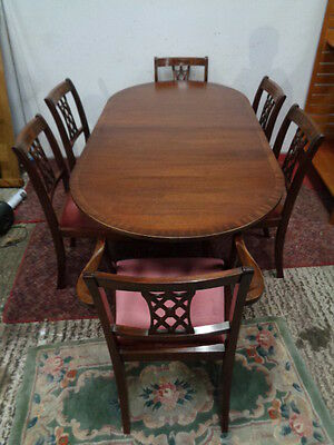 Classic regency style  Vintage   dining table & 6 chairs