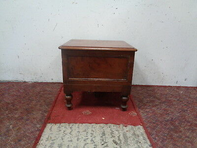 Antique Victorian Era Mahogany Boxed/Footstool Commode PLANT STAND