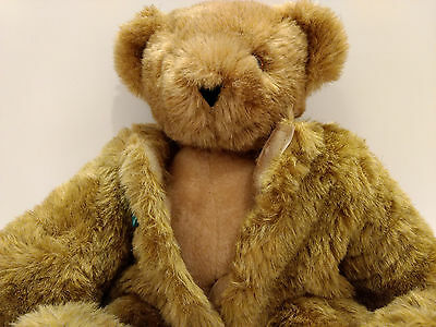 """Birthday Suit Bear Vermont Teddy Bear Removable Fur Naked Jointed Plush 15"""""""
