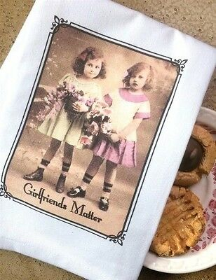 Victorian Trading Co Girlfriends Matter Photograph  Dish Towel or Tea Towel
