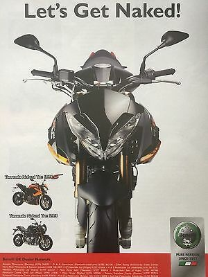 Benelli Tornado Naked Tre 899S - Original A4 Motorcycle Advert