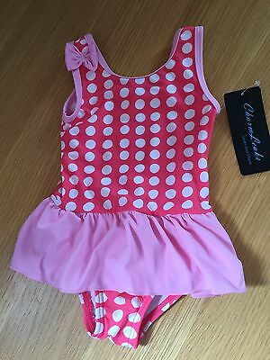 Baby Girls Quality Swimsuit/dress. 6-9 Mths. Bnwt