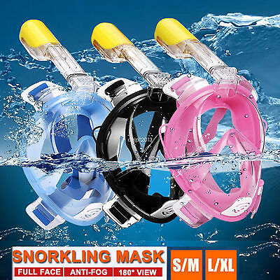 180° Full Face Snorkel Mask Easybreath Diving Swim Underwater for GoPro Camera