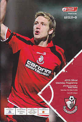 2008/09 BOURNEMOUTH V NOTTS COUNTY 21-03-2009 League 2 (Excellent)