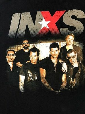 INXS 2006 Concert Tour T-Shirt Band On Front & Stops On Back Sz Medium Black