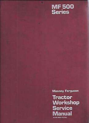Massey Ferguson Tractor 550 565 575 590 Service Repair Workshop Manual (0014)