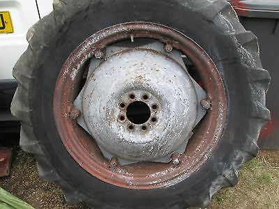 tractor wheel and tyre grey fergie spares