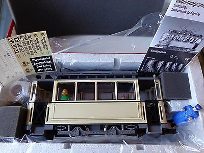NEW LGB 23355 Electric street car (neutral) with driver & passengers NOS G scale