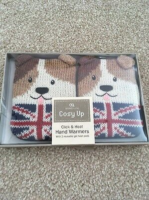 Hand Warmers, Union Jack Dogs. NEW.