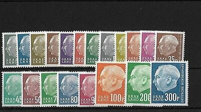 Saar Sg406/25, 1957 Redrawn Set Mnh, Cat £70