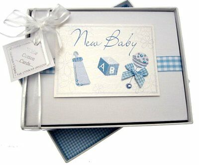 White Cotton Cards - Album fotografico New Baby, dimensione piccola, colore: Bl